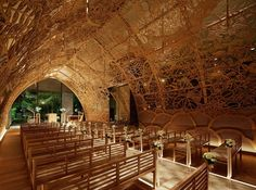5osA: [오사] :: *웨딩 채플의 아름다운 우드 돔 [ Nikken Space Design ] A Wedding Chapel Surrounded By Nature Motifs