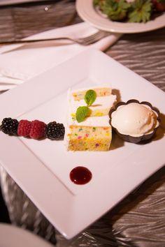 We'll take a piece of this funfetti cake please!! #tuesdaytreat Photo: Kari Otero Photography