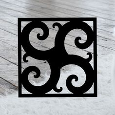 This decorative Wrought Iron Wall Art piece, Style 211, features a Geometric square silhouette that will add beauty and character to any wall or surface. It is coated in one of the most long-lasting finishes available - a flat black baked-on powder coated finish that will last for many years. Wrought Iron Wall Art, Art Pieces, Powder, Surface, Wall Decor, Silhouette, Flat, Crafts, Character
