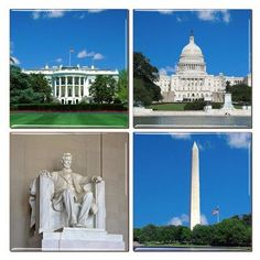 Washington DCCoasters An impressive collection of coasters featuring beautifully colored images of popularWashington DCLandmarks. Choose from the White House, Washington Monument, the Capitol Buil