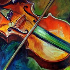 """""""VIOLIN ABSTRACT """" by Marcia Baldwin: From my music series for this original oil painting depicts a violin in abstract. M Baldwin Fine Art Originals ~ Thanks for viewing. Piano Y Violin, Piano Art, Music Artwork, Art Music, Violin Painting, Musik Illustration, Guitar Art, Cello Art, Art Portfolio"""