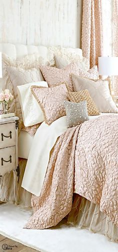 What kind of bedroom decor do you favor? The days when the bedroom had to be crisp clean simple and . Read Sweet Shabby Chic Bedroom Decor Ideas to Fall in Love With Shabby Chic Bedrooms, Shabby Chic Homes, Shabby Chic Decor, Parisian Bedroom, Trendy Bedroom, Bedding Master Bedroom, Home Bedroom, Bedroom Decor, Bedroom Ideas