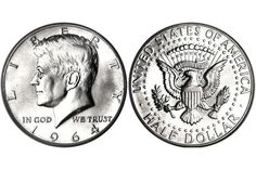 Most Valuable Kennedy Half Dollar Silver Clad Coin Values Antique Coins, Old Coins, Rare Coins, Valuable Coins, Coins Worth Money, American Coins, Kennedy Half Dollar, Coin Worth, Coin Values