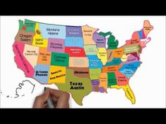 The 50 States and Capitals Song 3rd Grade Social Studies, Social Studies Activities, Teaching Social Studies, Teaching History, Kid Activities, Teaching Tools, Teaching Ideas, Us Geography, Geography Lessons