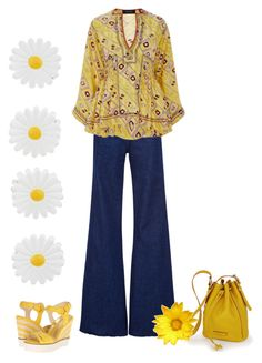 """""""Mellow Yellow"""" by kim-mcculley ❤ liked on Polyvore featuring Natasha Zinko, Isabel Marant, Monsoon, Nine West and yellow"""