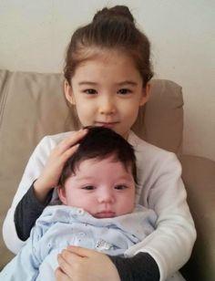 Lauren & son petit frère Cooper