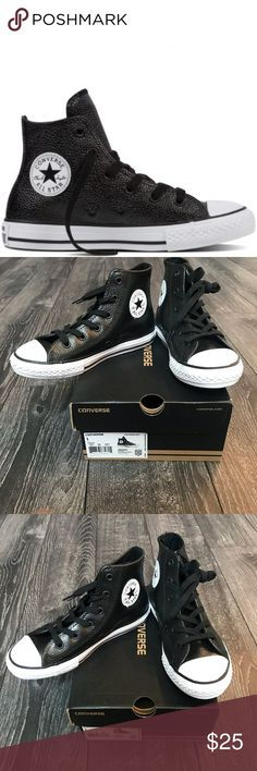 7336a117be7a Converse High Top black Leather Chuck Taylor Star Converse High Top black  Leather Chuck Taylor All