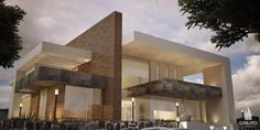 Guadalajara Jalisco MéxicoProject and Construction Creato arquitectos Modern Architecture House, Modern Buildings, Beautiful Architecture, Residential Architecture, Architecture Design, Design Exterior, Modern Exterior, Villa Design, Modern House Plans
