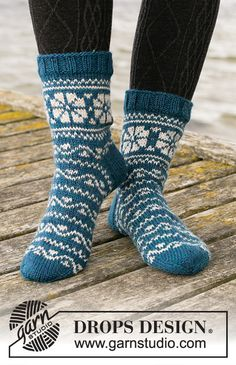 Socks & Slippers - Free knitting patterns and crochet patterns by DROPS Design Drops Design, Knit Mittens, Knitting Socks, Free Knitting, Knitted Slippers, Drops Kid Silk, Drops Baby, Winter Knitting Patterns, Crochet Patterns