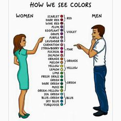 differences between men & women   how we see colors
