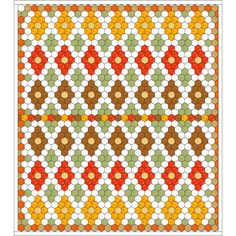 Samples of Hexagon Quilts | Quilt Patterns & Blocks | Angie's Bits ... : hexagon quilt pattern free - Adamdwight.com