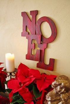 Pottery Barn Inspired NOEL art