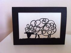 Sheep Laser Cut Card £2.50