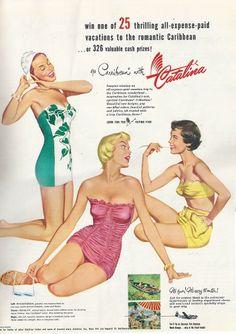 Catalina swimwear ad.
