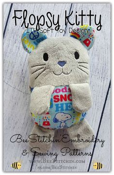 Flopsy Kitty - ITH Cat Softie: BeeStitchin' Embroidery