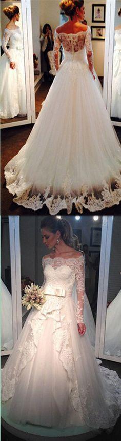 Long Sleeve Wedding Dresses,Wedding Dress,Custom Made Wedding Gown