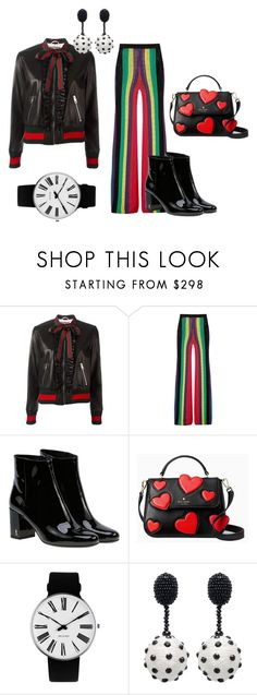 """Untitled #107"" by olia7805 on Polyvore featuring Gucci, Balmain, Yves Saint Laurent, Kate Spade, Rosendahl and Oscar de la Renta"
