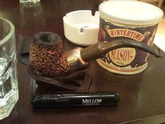 The Seasons Winter Time and Peterson Baked Meerschaum Pipe