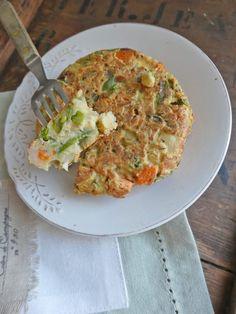 Frittata aux oeufs VS frittata sans oeuf  ( Sans gluten,  sans céréales,  léger, sans lactose, vegan ou pas... )