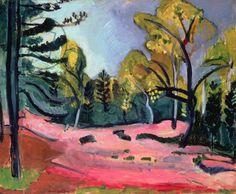 HENRI MATISSE Open plek in het bos van Fontainebleau 1909