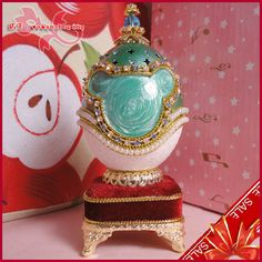 Marble Teal  Faberge style Russian carved egg music box free shipping e14 on AtomicMall.com http://atomicmall.com/view.php?id=2287305_source=Twitter_medium=ProductToools