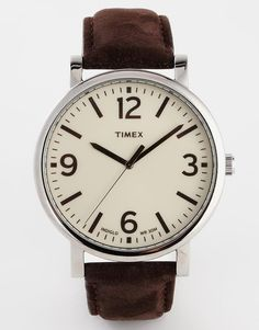 Timex Originals Leather Strap Watch T2P526 $108