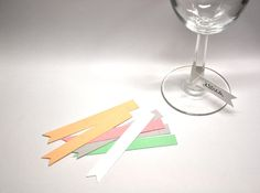 Paper Flag Wine Glass Markers