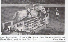 Jim Kohn won the AHSA Medal Finals at the National Horse Show at Madison Square Garden in 1964. Photo by Budd.