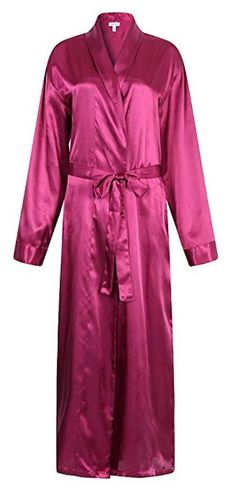 188be3e725 Mens Burgundy Satin Bathrobe 2XL Luxury Spa Kimono Robe Lightweight  Sleepwear XX  fashion  clothing