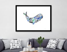 Giclee art print on heavyweight Fine Art paper, 310gsm, acid-free, 100% cotton, using archival Ultrachrome K3 inks. All prints are manually numbered, signed, embossed and shipped with a certificate of authenticity. @curioos #art #limited #mixedmedia #whale #sea #ocean #homedecor #wallart