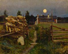 Eero Järnefelt (1863-1937) Kesäyön Kuu / Summer Night Moon 1889 - Finland