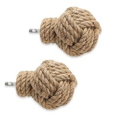 Bring a touch of coastal charm to your window treatments with the unique Cambria Premier Complete Jute Knot Finials. Perfect for a beach house, guest room, or any room. For use with Cambria Complete single and double rods (sold separately). Coastal Style, Coastal Decor, Beach Curtains, White Picture Frames, White Home Decor, White Houses, Beach House Decor, Beach Houses, Nursery Themes
