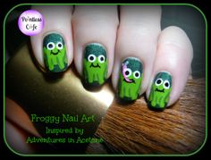 Nail Art Theme Week Day 5: Gettin' Froggy With It | Pointless Cafe