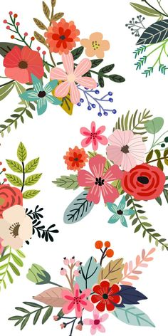 Ideas for wallpaper iphone pattern design pretty floral prints Cute Wallpaper Backgrounds, Pretty Wallpapers, Trendy Wallpaper, Flower Wallpaper, Screen Wallpaper, Wallpaper S, Pattern Wallpaper, Floral Wallpaper Iphone, Spring Flowers Wallpaper