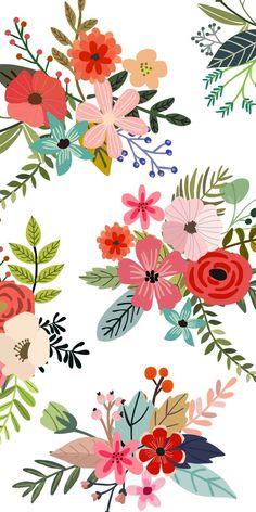 Ideas for wallpaper iphone pattern design pretty floral prints Art Floral, Motif Floral, Floral Prints, Floral Flowers, Spring Flowers, Paper Flowers, Art Prints, Iphone Background Wallpaper, Flower Wallpaper
