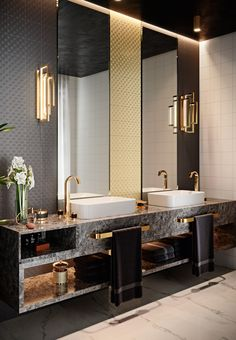 This collection is inspired by the Art Deco classics of the and it provides the specifier with a powerful and distinct look. Rustic Bathroom Designs, Rustic Bathroom Decor, Bathroom Design Luxury, Rustic Bathrooms, Dream Bathrooms, Modern Bathroom Design, Washroom Design, Dream Home Design, Home Interior Design