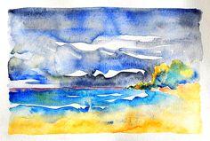 """Tobago, Watercolor, 11""""x 8"""" $250 USD (Original). Available December 2013."""