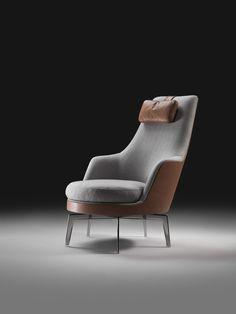 moder armchair upholstered with combination of lethaer ans cashemere  | www.bocadolobo.com/ #luxuryfurniture #designfurniture
