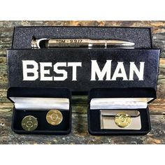Look sharp. The Shart Shooter Personalized Best Man & Groomsmen Gift Bundle includes a bullet bottle opener, money clip and cufflinks. Wedding Gift Bags, Custom Wedding Gifts, Wedding List, Great Wedding Gifts, Great Gifts For Men, Personalized Wedding Gifts, Wedding Favours, Plan Your Wedding, Wedding Rings