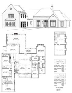 home decor styles 2020 Floor Plans 2 Story, House Plans 2 Story, Country House Plans, Dream House Plans, House Floor Plans, Design Studio, Dream Home Design, House Design, Luxury Floor Plans