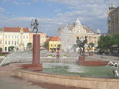 Main square, Szombathely, Hungary