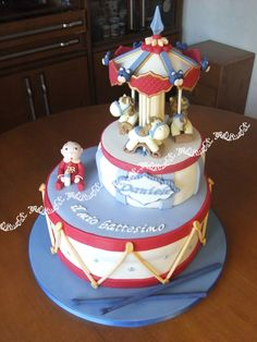 Baptism Cake for baby supporter of Roma football club.
