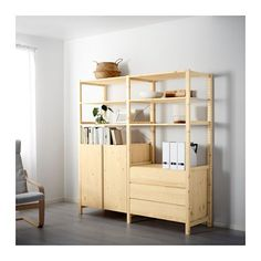 IKEA - IVAR, 2 section unit w/cabinet & chest, Untreated solid pine is a durable natural material that can be painted, oiled or stained according to preference.You can move shelves and adapt spacing to suit your needs.You can personalize the furniture even more by staining or painting it your favorite color.