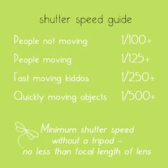 Ordinary Miracles & The Crazy 9: Photography 101 {Shutter Speed}