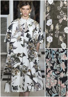 Beautiful SS17 Ready to Wear collection from Antoni Marras.  Print highlights included, loosely drawn florals, subtle grey florals colour plays and embelli