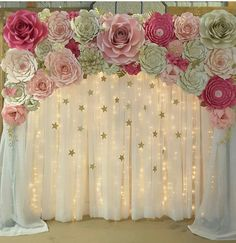 Paper flower backdrop paper flower template diy paper flower comic book wedding champagne flutes personalized by bradgoodell mightylinksfo