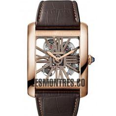 Montre Cartier Tank MC Squelette rose en or Montre W5310026