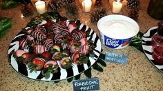 Pure Romance Party Food Ideas:   Forbidden Fruit with a whipping ;)