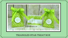 Triangled Star Treat Box - YouTube