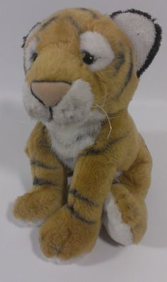 "1994 Petting Zoo Bengal Baby Tiger Cub Stuffed Animal Plush Wild Cat 7"" Sitting  #ThePettingZoo"